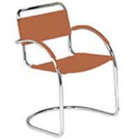 Cantilever chrome armchair hire