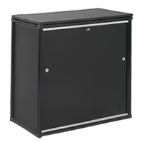 Lockable counter cupboard with shelf