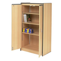 Tall lockable cupboard with 3 shelves