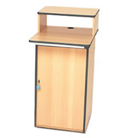 Lockable computer workstation - adjustable shelf hire