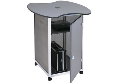 Lockable computer workstation - double