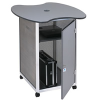Lockable computer workstation - double hire