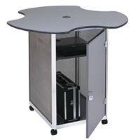Lockable computer workstation - treble hire