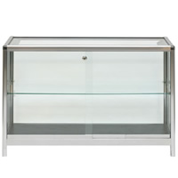 1.25m Glass Showcase Cabinet - Lights & lockable hire