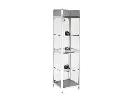 Tallboy Glass Showcase Cabinet   Lights U0026 Lockable