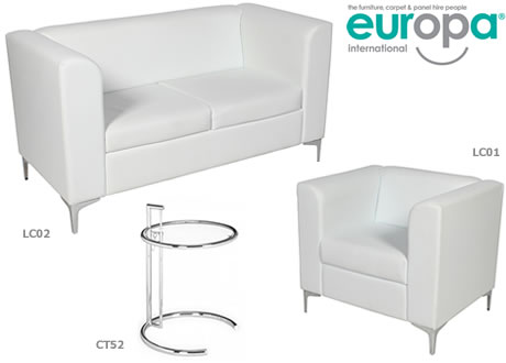 White Leather Chair - Single Mirage