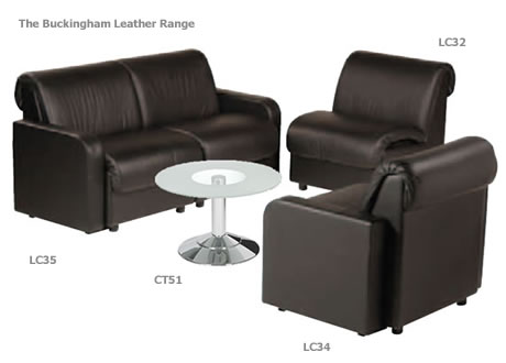 Buckingham two-seater Leather sofa