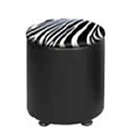 Drum Faux Leather Stool hire