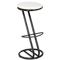 Zeta black frame bar stool