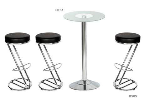Zeta chrome frame bar stool