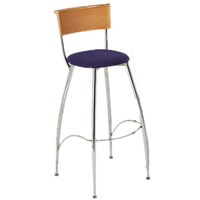 Eros beech backed bar stool