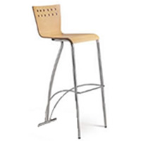 Aurora backed bar stool