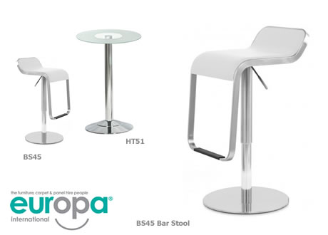 Olivia White Bar Stools