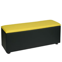 Faux Leather Bench - Colours to order