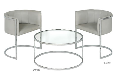 Coulsdon glass-topped coffee table