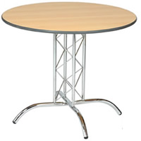 Apollo 3' chrome base round table