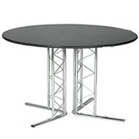 Isis 3'9 Chrome Based Table hire