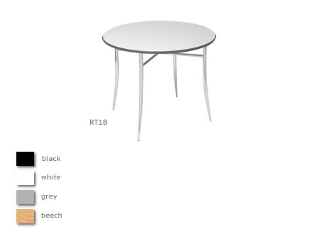 Juno 3' chrome legged round table
