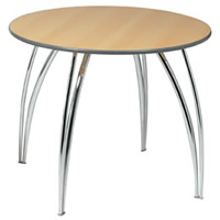 Apollo 3' chrome legged round table