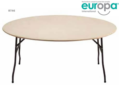 6' Round Folding Table