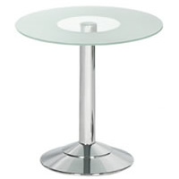 Glass Topped Round Table