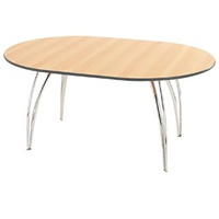 Apollo chrome oval meeting table (seats 4-6)