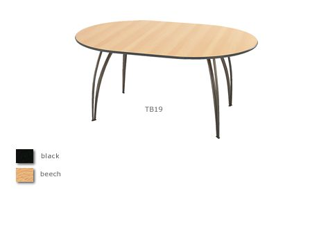 Sol gunmetal oval meeting table (seats 4-6)