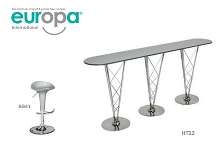 Aurora Chrome Bar Table