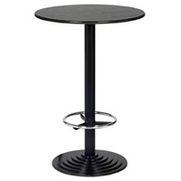 2'6''Round Black Leg Poseur Bar Table hire