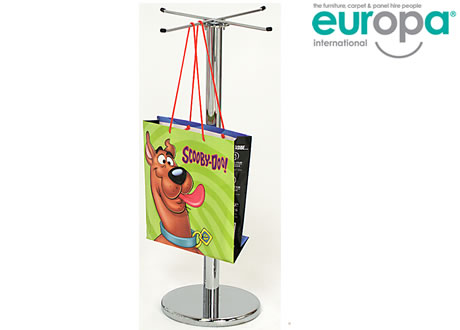 Carrier bag holder post