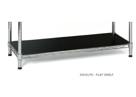 Flat Shelf in Black or White