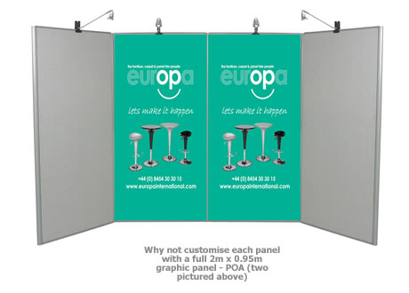 2m x 0.95m Graphic Panels Only