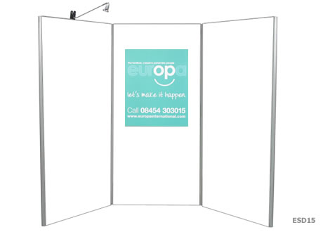 3 Panel Display Boards - Lighting seperate