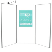 3 Panel Display Boards - Lighting seperate hire