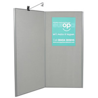 2 Panel Display Board - lighting separate hire